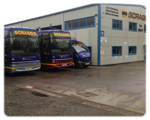 Scraggs Galley of Coach Fleet and Cars for Hire