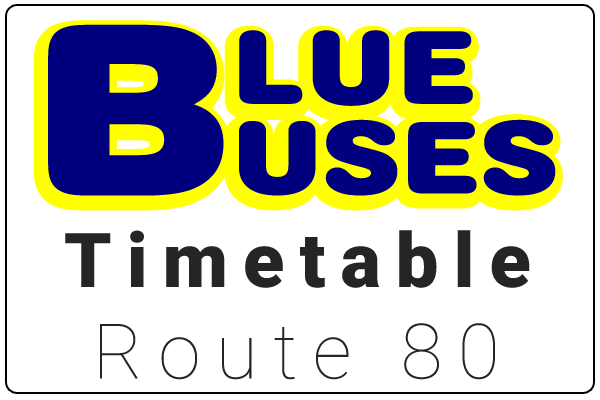 Blue Buses Route 80 Timetable Download
